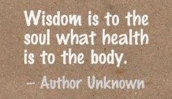 Wisdom is to the soul what health is to the body