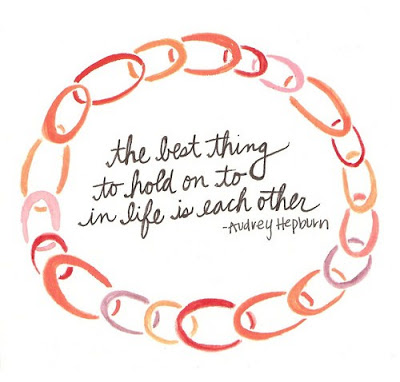 Audrey Hepburn Quote the Best Thing to Hold On To