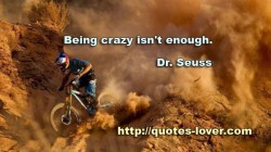 Being crazy isn't enough.