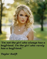 I'm not the girl who always has a boyfriend. I'm the girl who rarely has a boyfriend