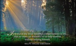 It is one of the most beautfiul compensations in life.. that no man can sincerely try to help another without helping himself