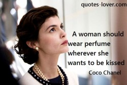 A woman should wear perfume wherever she wants to be kissed