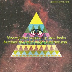 Never judge anyone by their looks because the truth might surprise you