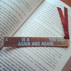 A book is a present you can open again and again