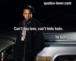 Can't buy love can't hide hate