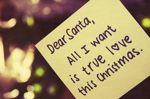 dear santa all i want is true love this christmas quotes