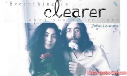 Everything is clearer when you're in love - Quote by John Lennon