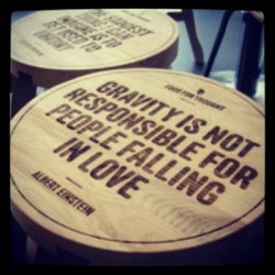 Gravity is not responsible for people falling in love.Albert Einstein quotes
