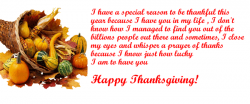 I have a special reason to be thankful this year