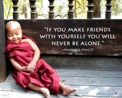 If you make friends with yourself you will never be alone.Maxwell Maltz quotes
