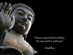 Peace comes from within, do not seek it without Buddha