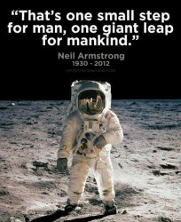 That's one small step for man, one giant leap for mankind