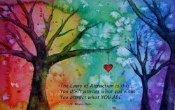The Laws of Attraction is this You don't attract what you want You attarct what YOU ARE