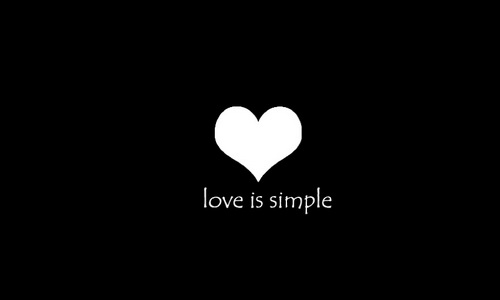 Love is simple.