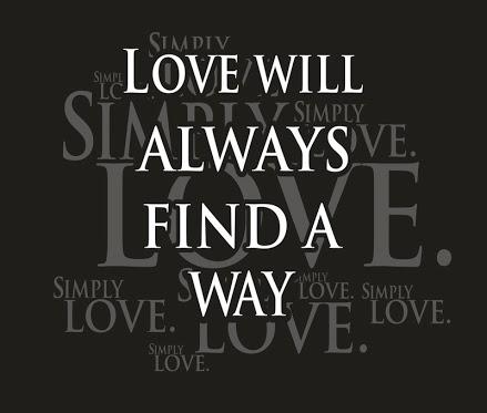 Love will always find a way.