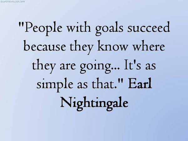 People with goals succeed because they know where they are going. It's as simple as that.
