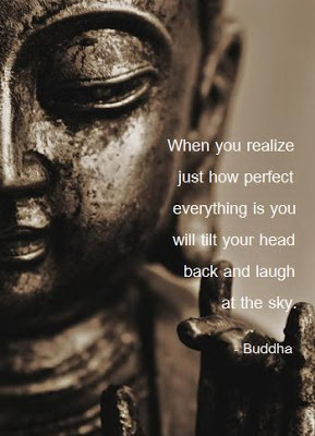 When you realize just how perfect everything is, you will tilt your head and laugh at the sky.