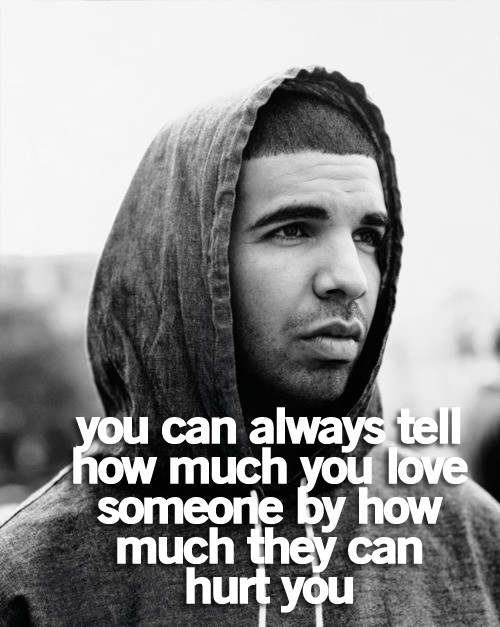 You can always tell how much you love someone by how much they can hurt you.