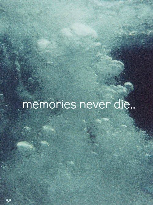 Memories never die.