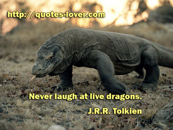 Never laugh at live dragons.