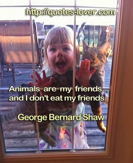 Animals are my friends...and I don't eat my friends.
