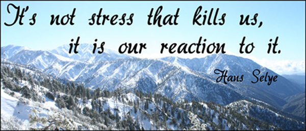 It's not stress that kills us it is our reaction to it.
