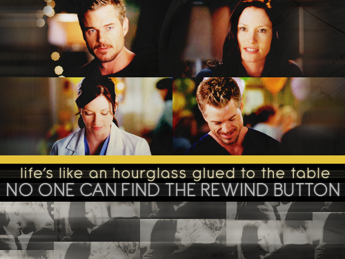 Life's like an hourglass glued to the table, no one can find the rewind button.