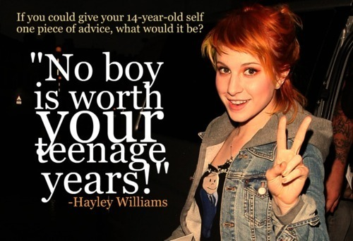No boy is worth your teenage years.