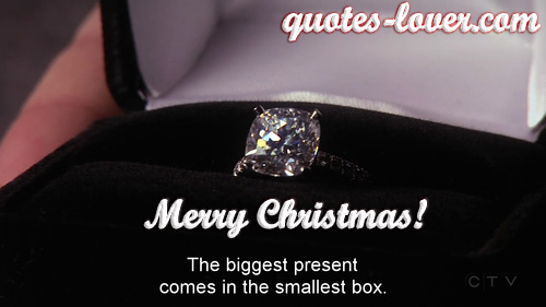 The biggest present comes in the smallest box. Merry Christmas!