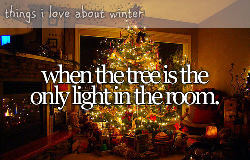 Things I love about winter when the tree is the only light in the room.