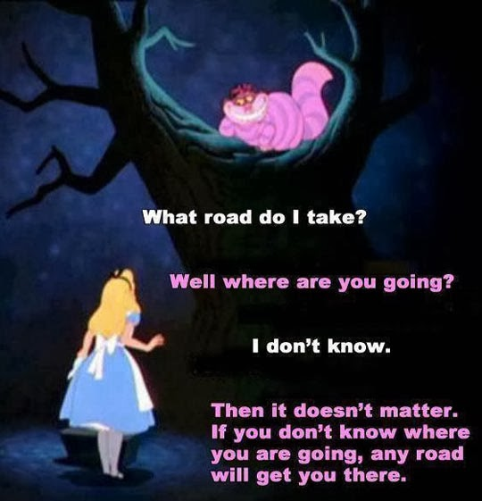 If you don't know where you are going, any road will get you there.