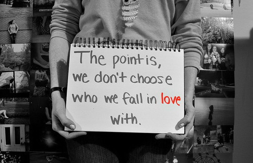The point is we don't choose who we fall in love with.