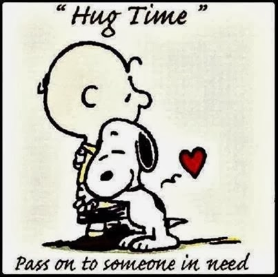 Hug time. Pass on to someone in need
