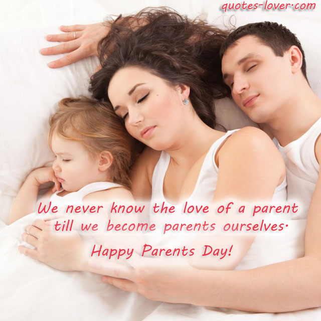 We never know the love of a parent till e become parents ourselves. Happy Parents Day!