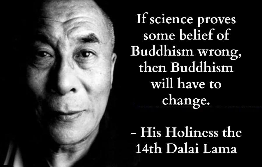 If science proves some belief of Buddhism wrong, then Buddhism will have to change