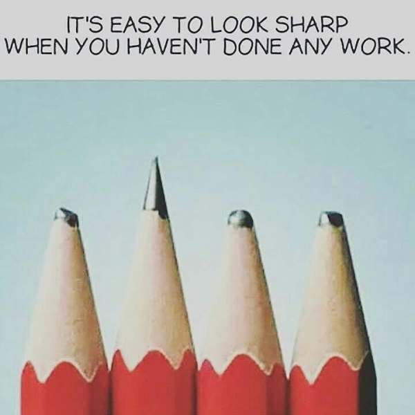 It's easy to look sharp when you haven't done any work
