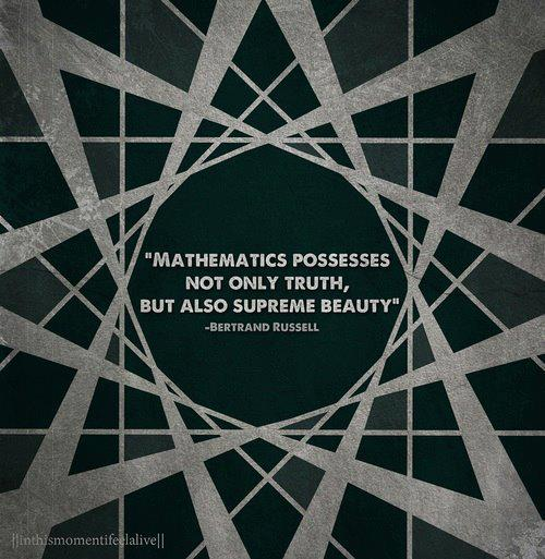 Mathematics possesses not only truth, but also supreme beauty.