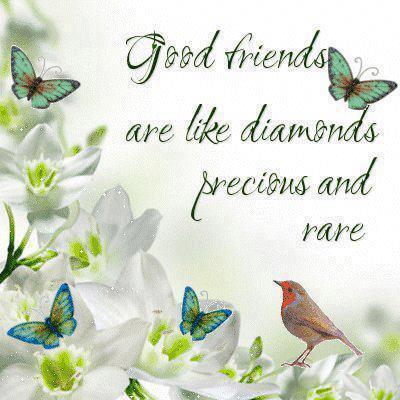 Good friends are like diamonds, precious and rare