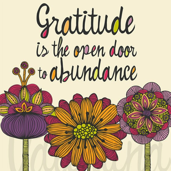 Gratitude is the open door to abundance.