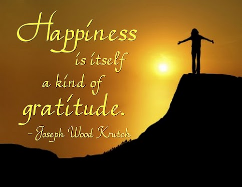 Happiness is itself a kind of gratitude
