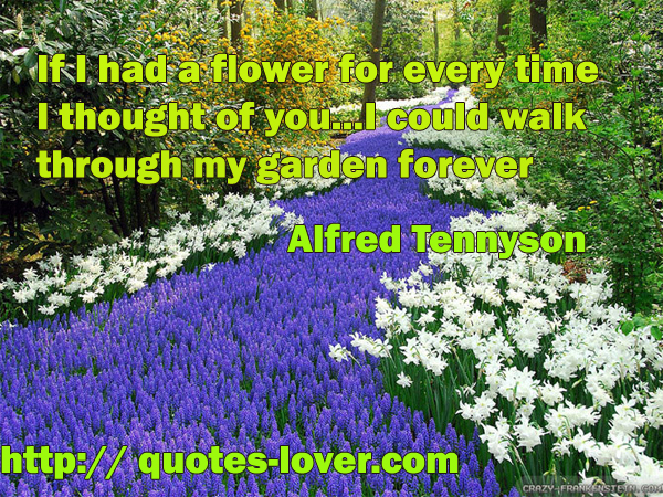 If I had a flower for every time I thought of you...I could walk through my garden forever