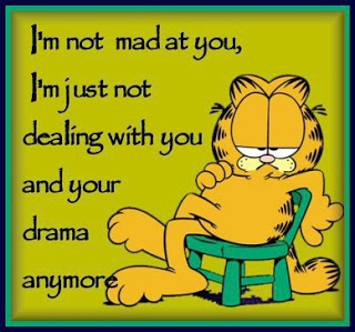 I'm not mad at you. I'm just not dealing with you and your drama anymore