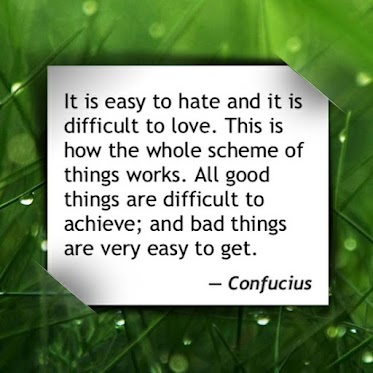 It is easy to hate and it is difficult to love. This how the whole scheme of things works. All good things  are difficult to achieve and bad things are very easy to get