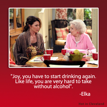 Joy, you have to start drinking again. Like life, you are very hard to take without alcohol