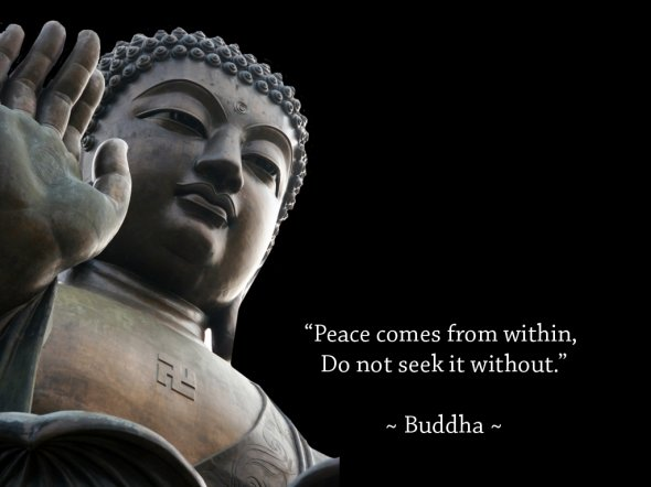 Peace comes from within, do not seek it without