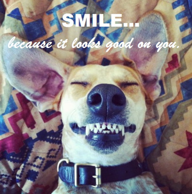 Smile.. because it looks good on you