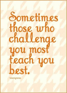 Sometimes those who challenge you most teach you best