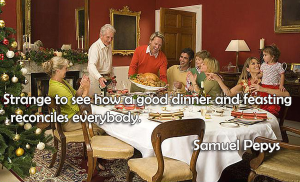 Strange to see how a good dinner and feasting reconciles everybody .