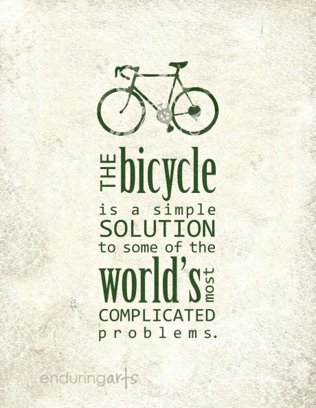 The bicycle is a simple solution to some of the world's most complicated problems