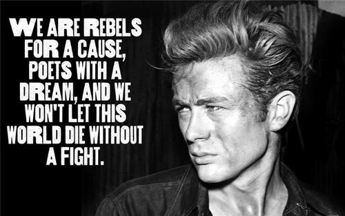 We are rebels for a cause, poets with a dream, and we won't let this world die without a fight
